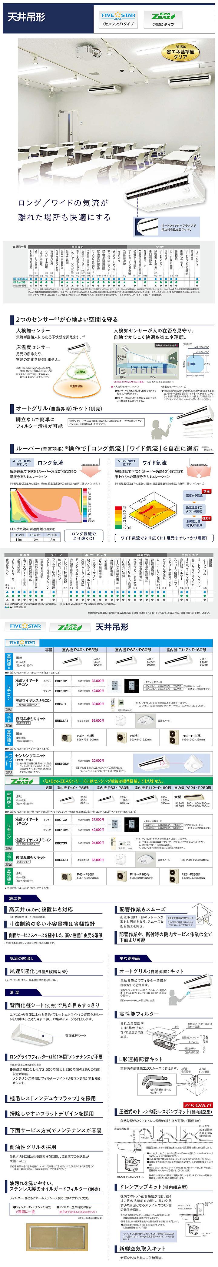 ダイキン SZRH140BCN 業務用エアコン