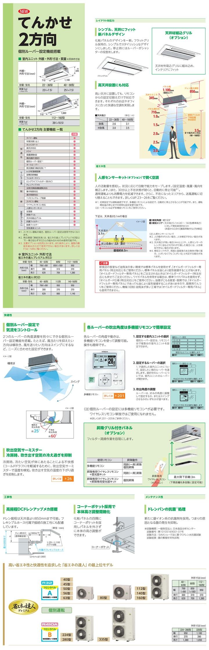 日立 業務用エアコン RCID-GP80RGH3