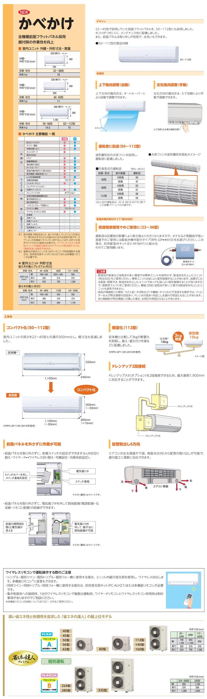 日立 RPK-GP160RGHG3 業務用エアコン