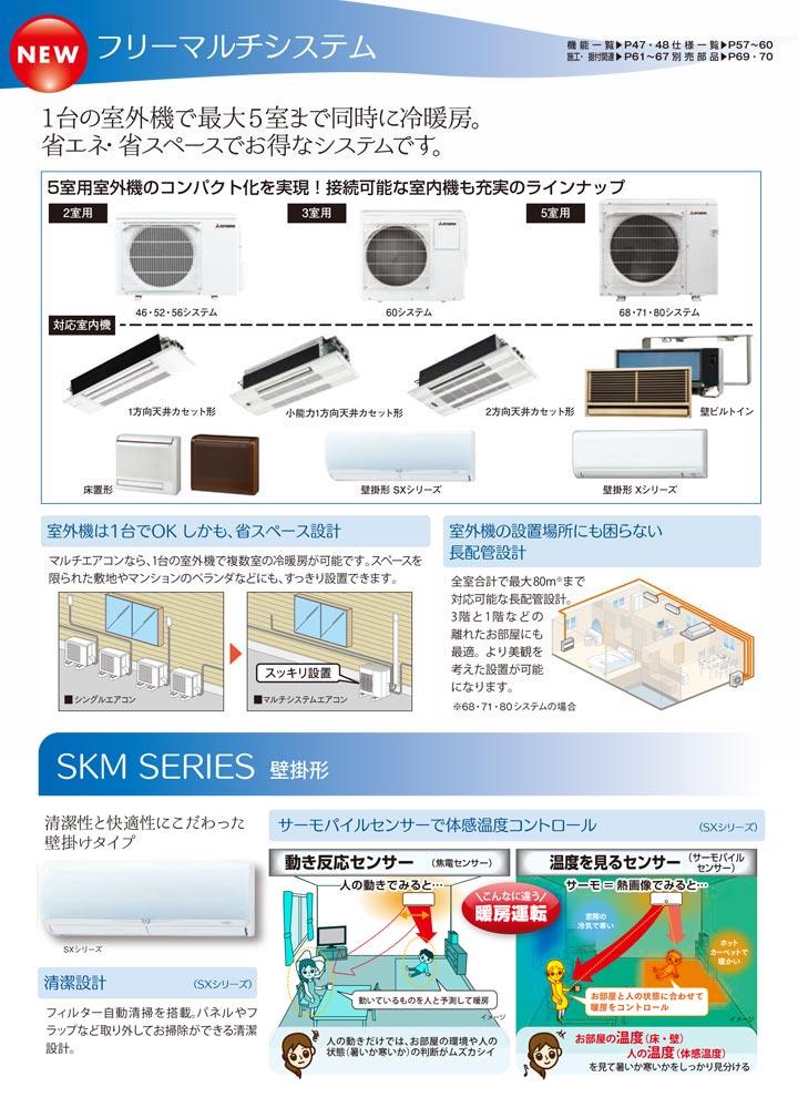 三菱重工 SKM22SX2 ハウジングエアコン
