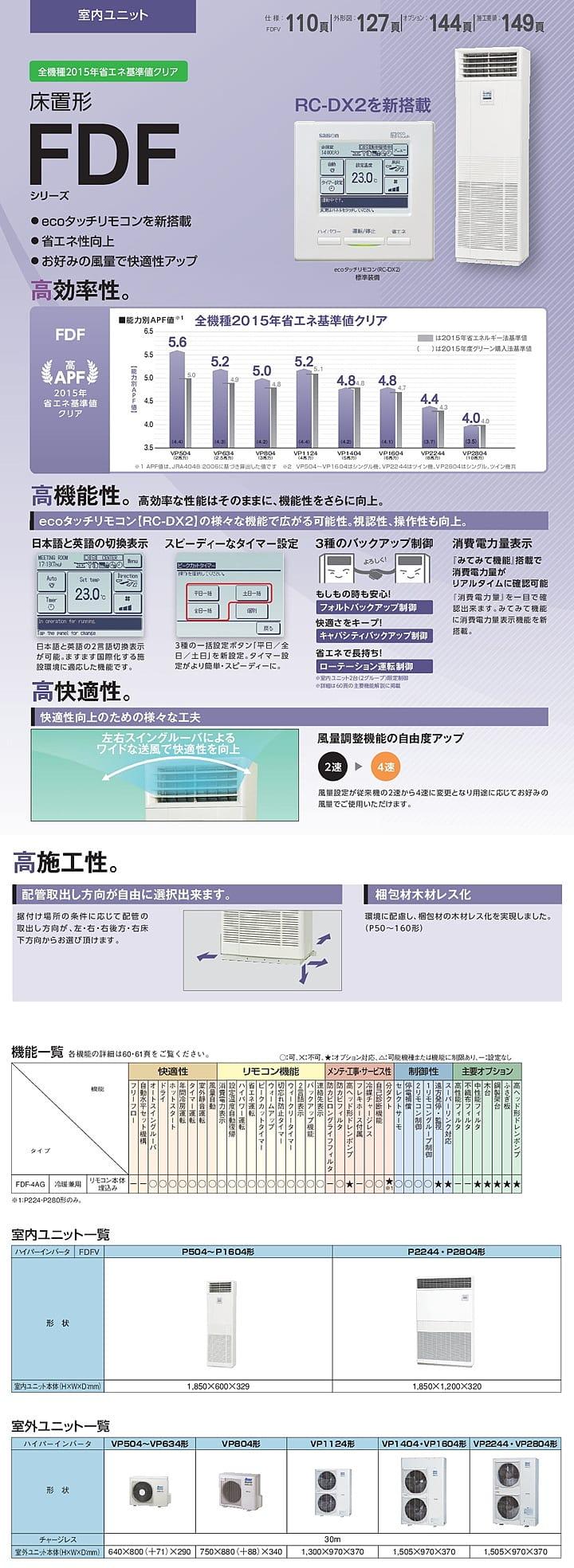 三菱重工 業務用エアコン FDFVP2804H4AG