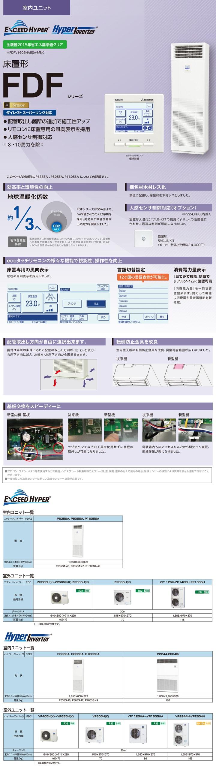 三菱重工 FDFZ1405HP5SA 業務用エアコン
