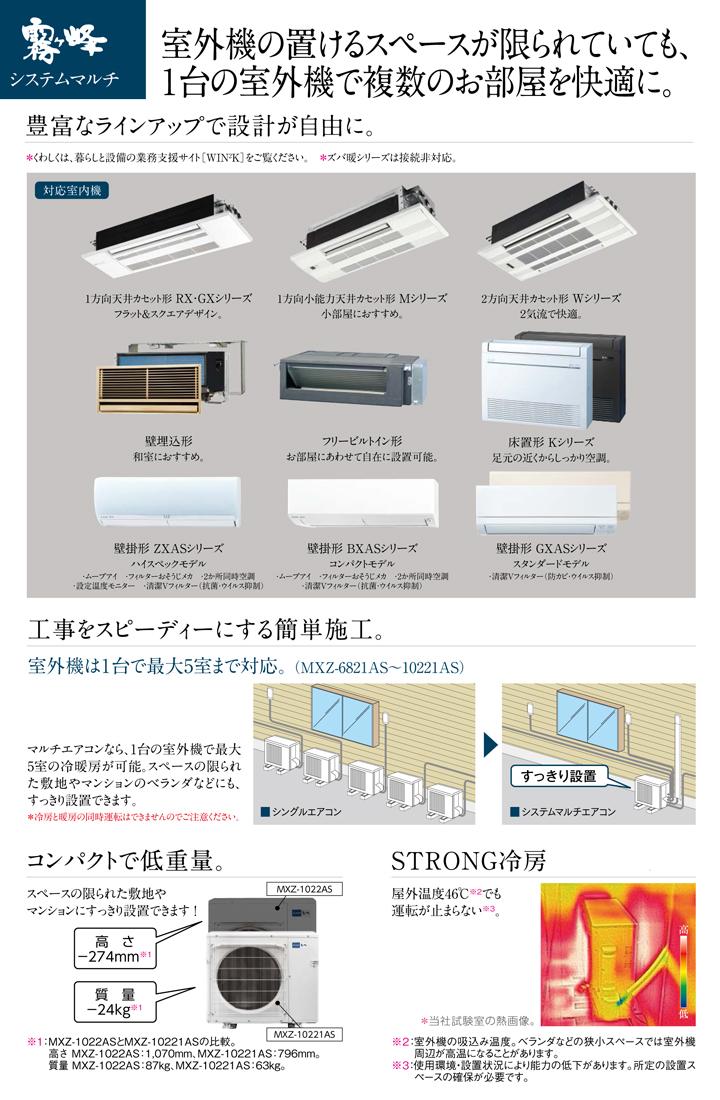 三菱電機 ハウジングエアコン MSZ-5021GXAS-T-IN
