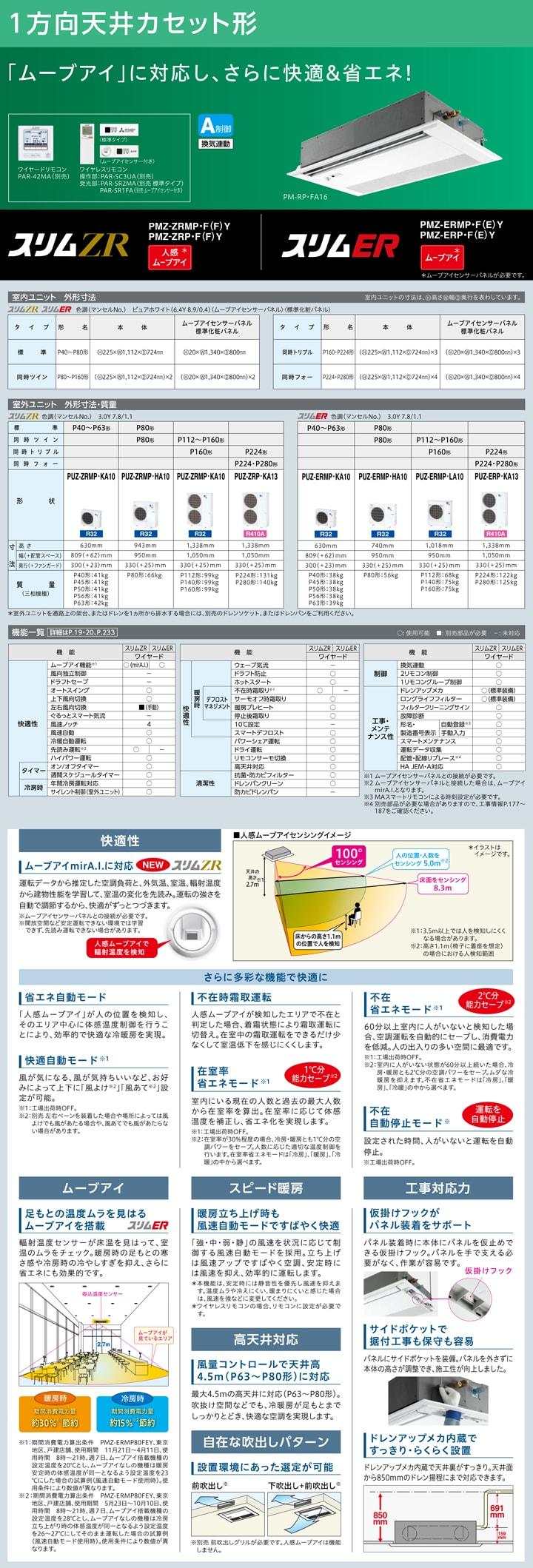 三菱電機 業務用エアコン PMZ-ZRMP50FY
