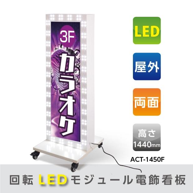 回転LEDモジュール電飾スタンド看板 W510mmxH1440mm