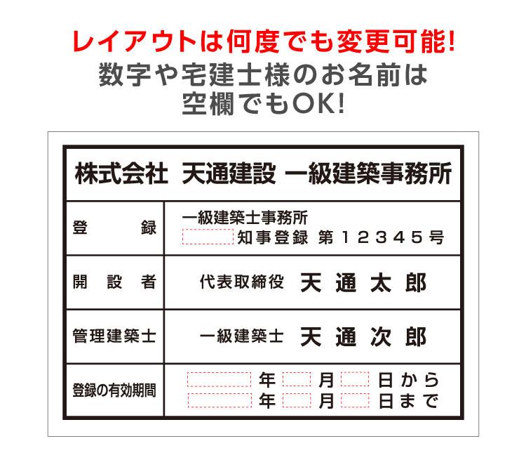建築士事務所登録票