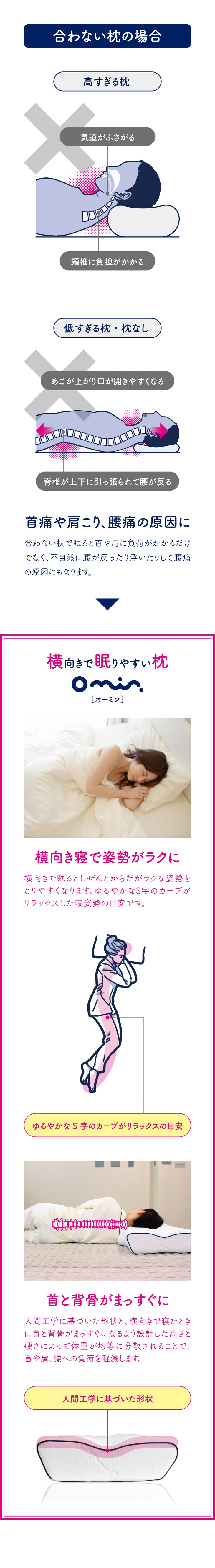 横向き寝用枕