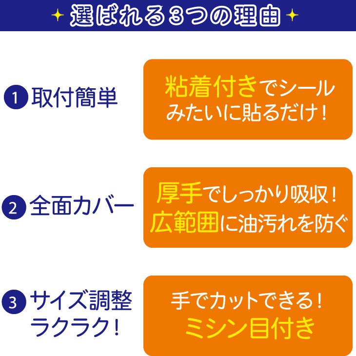 レンジフードフィルター(換気扇フィルター)の選ばれる3つの理由 取付簡単 全面カバー サイズ調整ラクラク