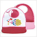 BUILT(ビルト)Mess Mate: Toddler Bib (2セット):Toddlerビブ