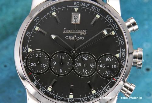 【EBERHARD】エベラール 腕時計 Chrono4(クロノ4) SS ブラック/ブラッククロコストラップ 31041.03