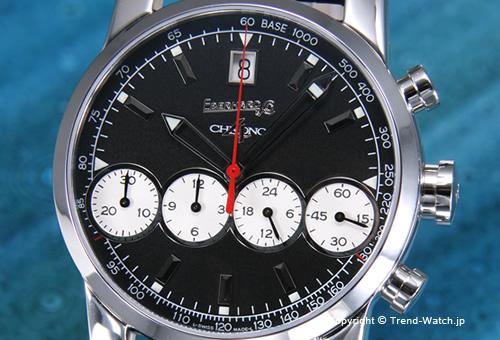 【EBERHARD】エベラール 腕時計 Chrono4 Bellissimo(クロノ4 ベリッシモ) SS ブラック&ホワイト/ブラッククロコストラップ 31041.04R
