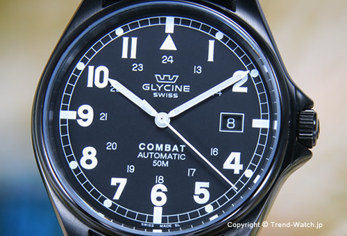 【GLYCINE】 グリシン Combat Automatic(コンバット オートマチック) ブラックPVD/ブラックナイロンストラップ 3815.99