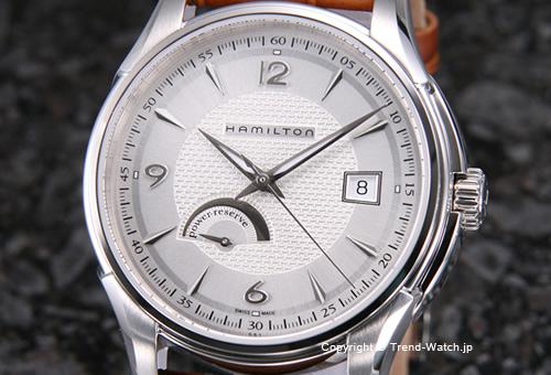 【HAMILTON】ハミルトン Jazzmaster Power Reserve(ジャズマスター パワーリザーブ) SS シルバー/ブラウンクロコストラップ H32519555