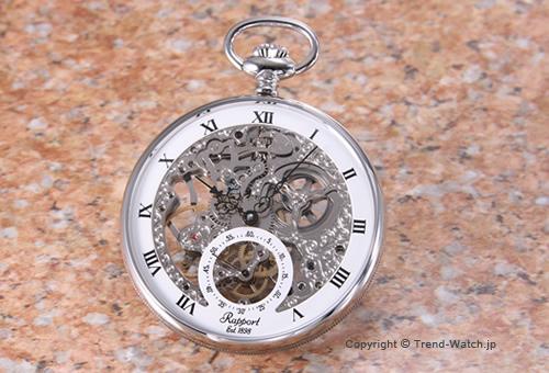 【RAPPORT】 ラポート 懐中時計(ポケットウォッチ) メカニカル SS/シルバースケルトン PW89