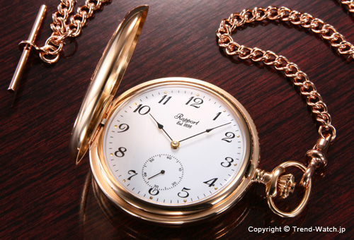 【RAPPORT】 ラポート 懐中時計(ポケットウォッチ) 手巻き ハンターケース(フタつき) PW82