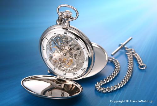 【RAPPORT】 ラポート 懐中時計(ポケットウォッチ) 手巻き フルハンター PW91