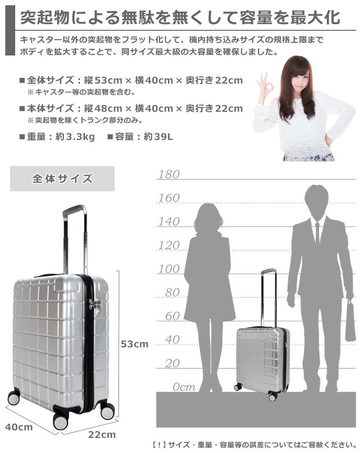 スーツケースのサイズ