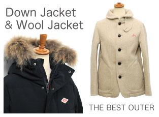 ダウン ウールジャケット