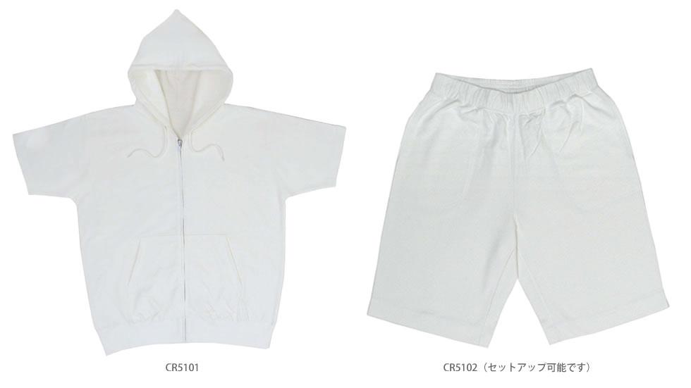 CROSS(クロス)半袖ジップパーカー