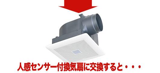 人感センサー付き換気扇