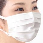 プリーツタイプの抗ウイルスマスク