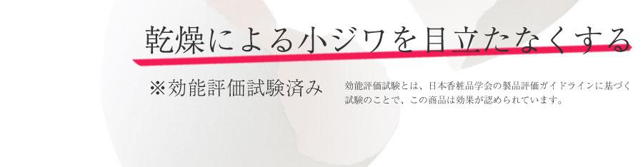 効能評価試験とは、日本香粧品学会の製品評価ガイドラインに基づく 試験のことで、この商品は効果が認められています。