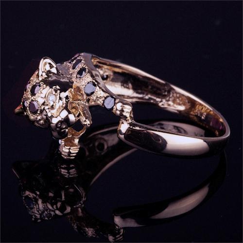 パンサーモチーフダイヤモンドリング【K18Pg】クリックで写真が拡大します