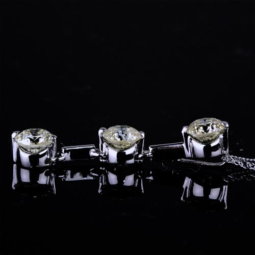ダイヤモンドペンダント【K18Wg】クリックで写真が拡大します