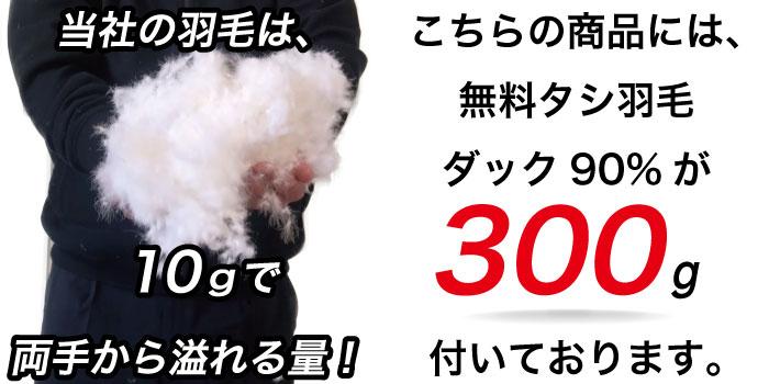 タシ羽毛300g
