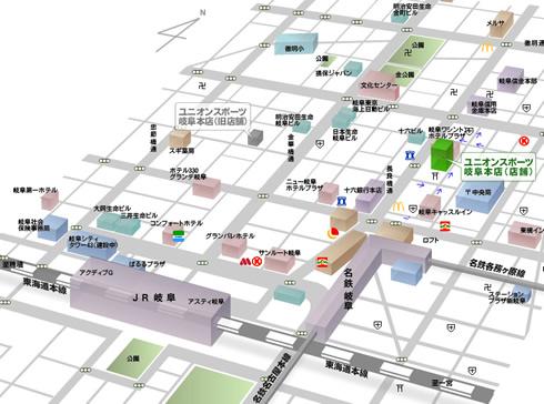 岐阜店地図