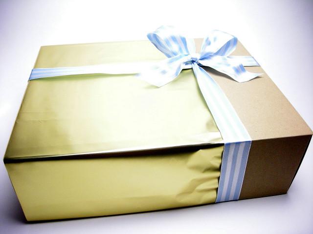 アンティアン手作り石鹸とオーガニックタオルの出産お祝いセット外箱