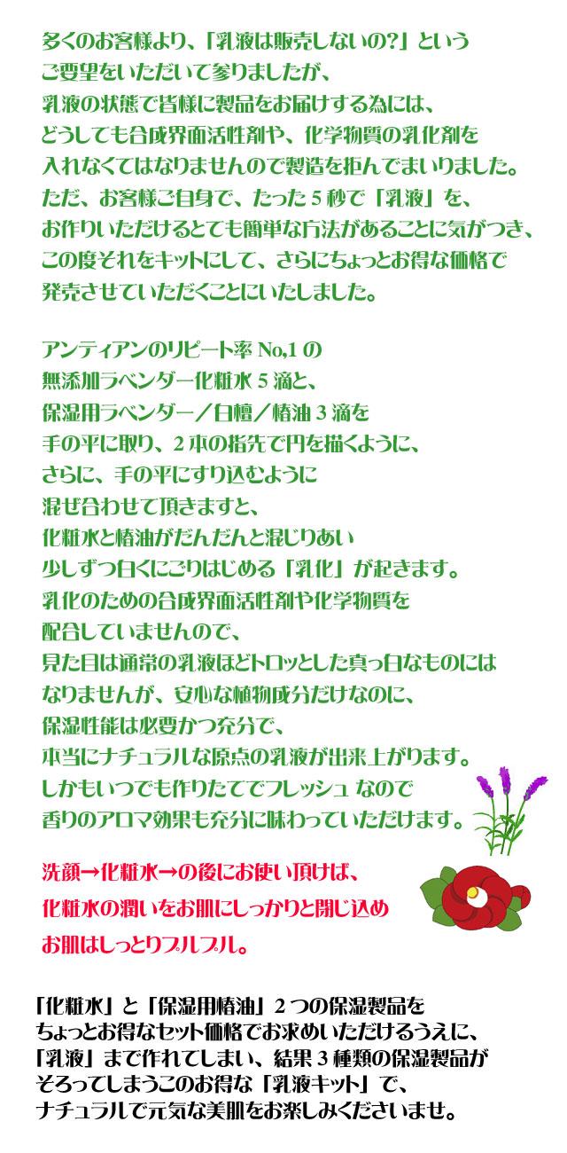 手作り乳液キット椿copy
