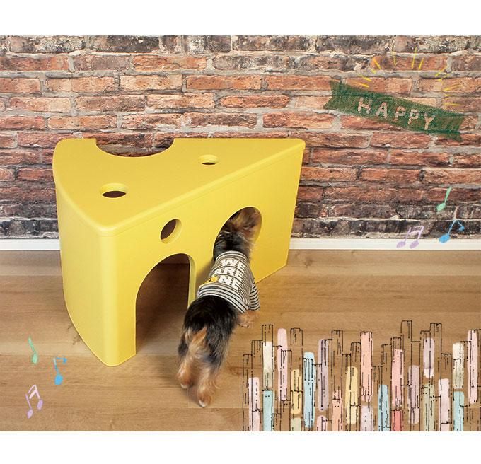 ペットハウス 犬 猫 ペット家 チーズ トムとジェリー 木製 オシャレ 家具 インテリア moos モース viventie ヴィヴェンティエ