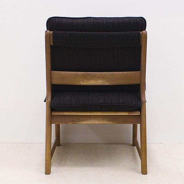 ダイニングチェア 洗えるカバー 布張り 連結可能 木製 和テイスト ナチュラル シンプル 座面広め