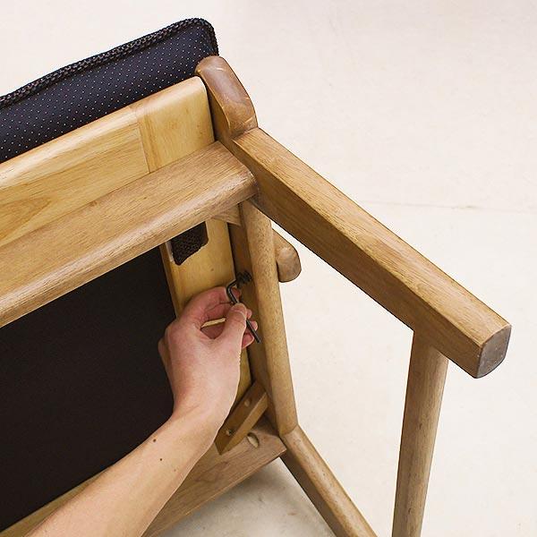 ダイニングチェア 洗えるカバー 布張り 連結可能 木製 和テイスト ナチュラル シンプル 座面広め ラバーウッド 集い つどい インテリア 家具 雑貨 セール 送料無料 viventie ヴィヴェンティエ