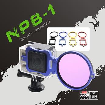 【NEOPine】GoPro Hero3+ SJCAM sj4000 レンズ フィルター アダプター リング アルミニウム合金 UV CPL レンズカメラ リングフィルター ◇NPB-01