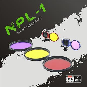 【NEOPine】GoPro HERO-3 SJCAM sj4000 ダイビング フィルター アダプターレンズ カラー:レッド/イエロー/パープル ◇NPL-1
