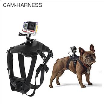 GoPro SJCAMシリーズ用 ドッグハーネス 愛犬の胸や背中にカメラを装着 ペット目線の動画撮影に SJ4000・SJ5000シリーズ◇CAM-HARNESS