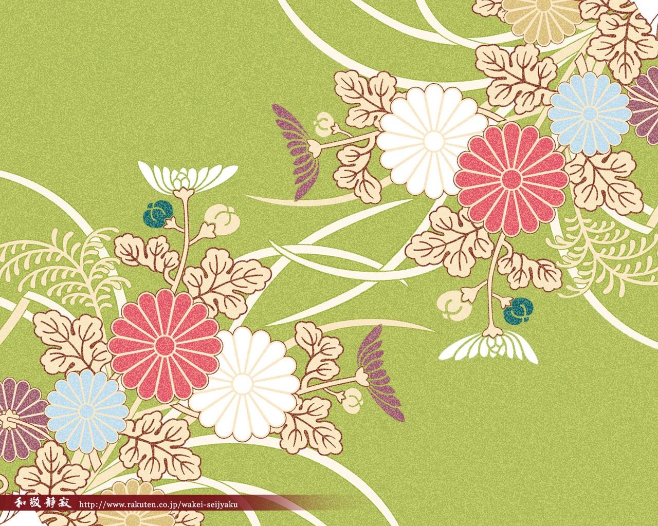 菊 和風 和柄 日本的 テイストなpcデスクトップ壁紙 画像集