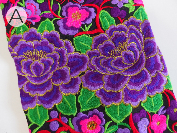 モン族 刺繍 ヨガマットバッグ
