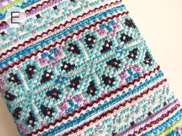 モン族 手刺繍 長財布 ウォレット