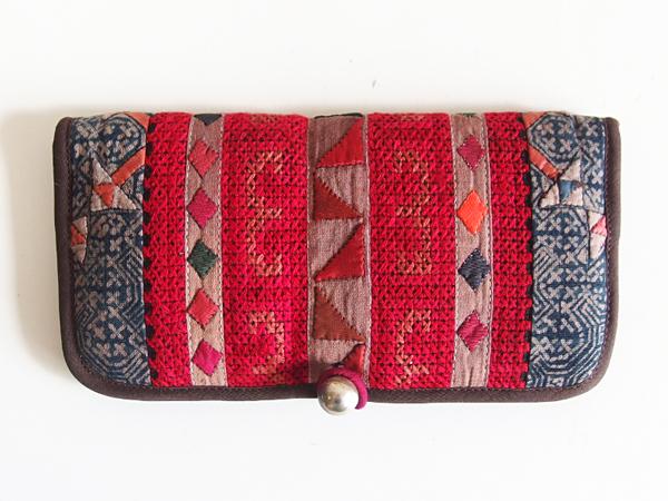 モン族 手刺繍 財布