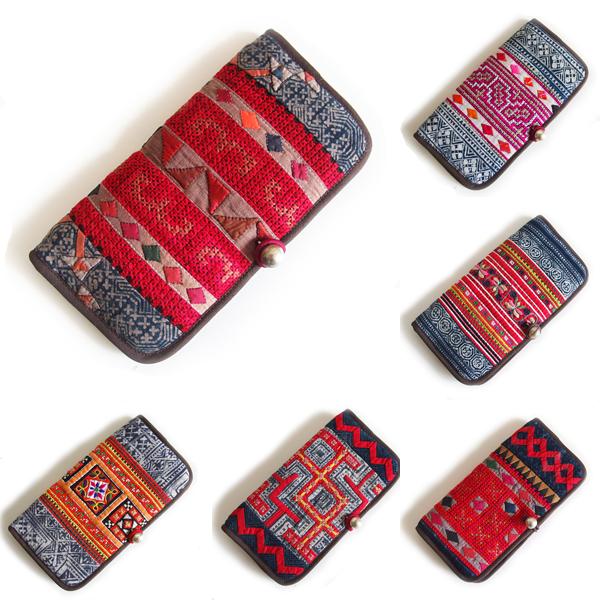 モン族 手刺繍 財布 ポーチ