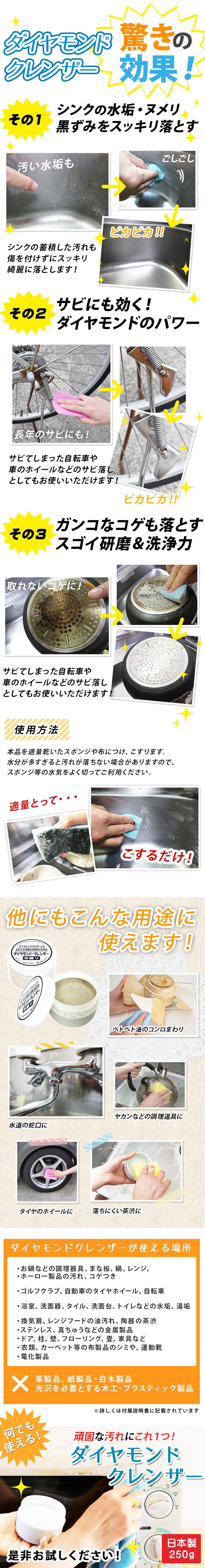 ダイヤモンドクレンザーの使い方