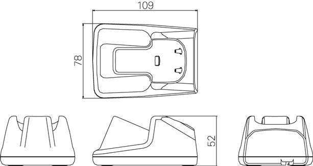 外形寸法 ガンタイプ2次元バーコードリーダー OPI-3601