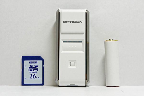 小型軽量デザイン OPN-3002i-WHT Bluetooth搭載 二次元データコレクタ