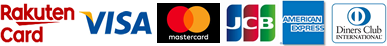 ご利用可能クレジットカード 楽天カード VISA MASTER JCB AMEX Diners