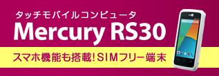 タッチモバイルコンピュータ マーキュリー Maercury RS30 Android搭載 スマホ機能 SIMフリー