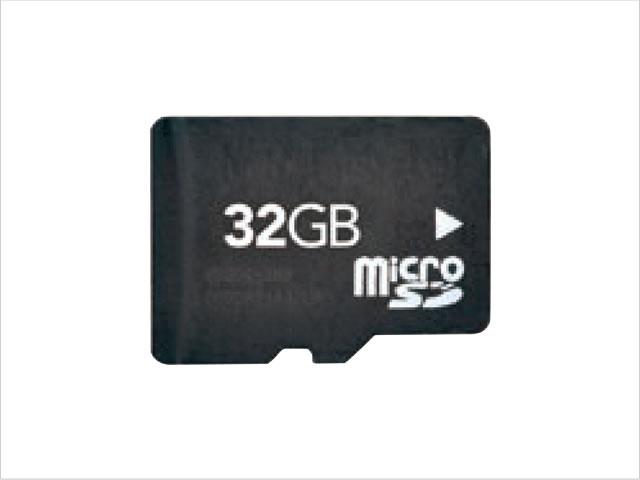 microSDHCカードを使用可能