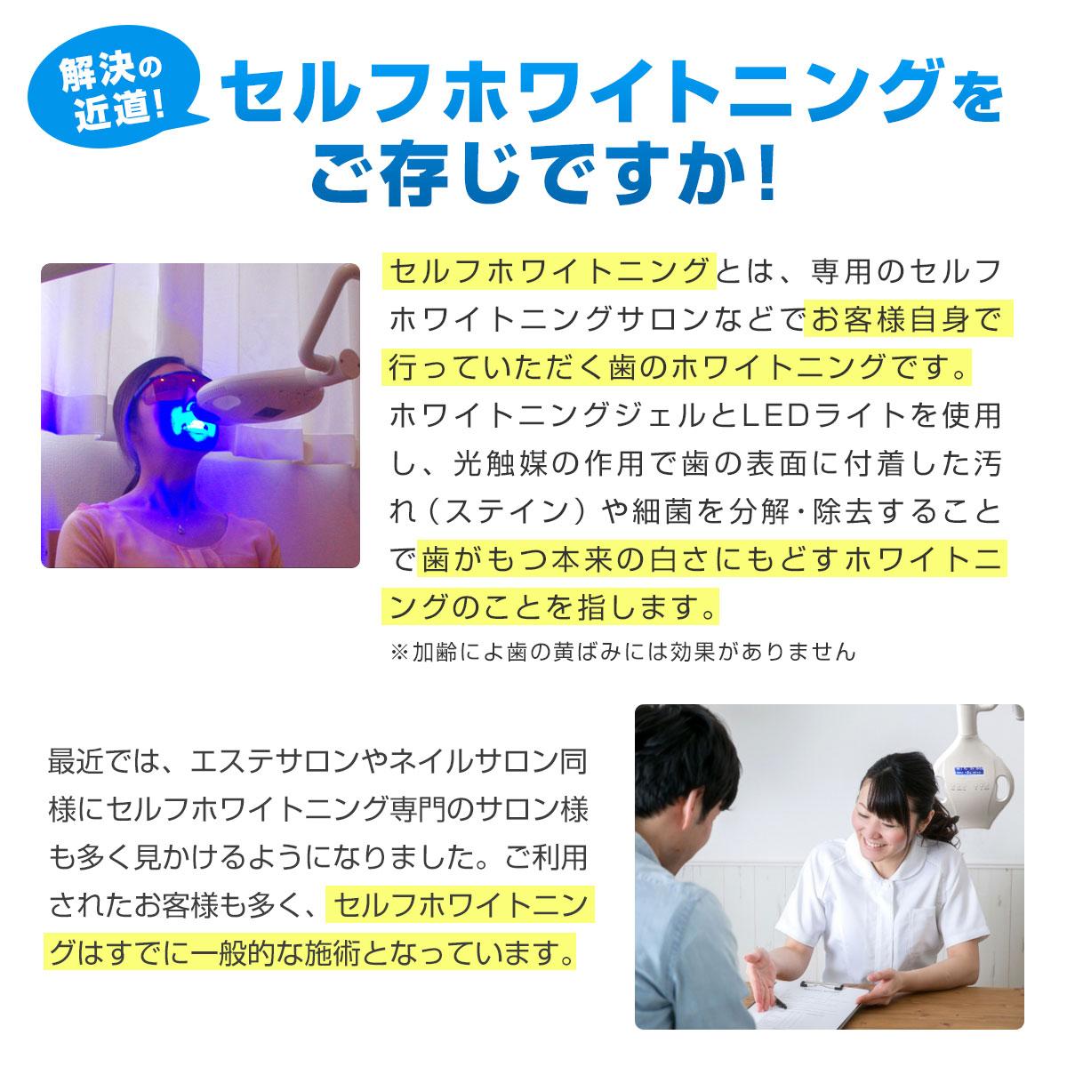 ホワイトWスターライト 強力5灯LED マウスピースは着脱が可能!※水洗いができ衛生的です。